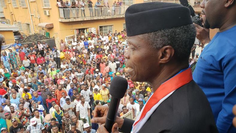 Image result for Osinbajo promises Lagos more federal projects