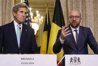 John Kerry w Brukseli: Belgia może liczyć na pomoc USA w śledztwie ws. zamachów