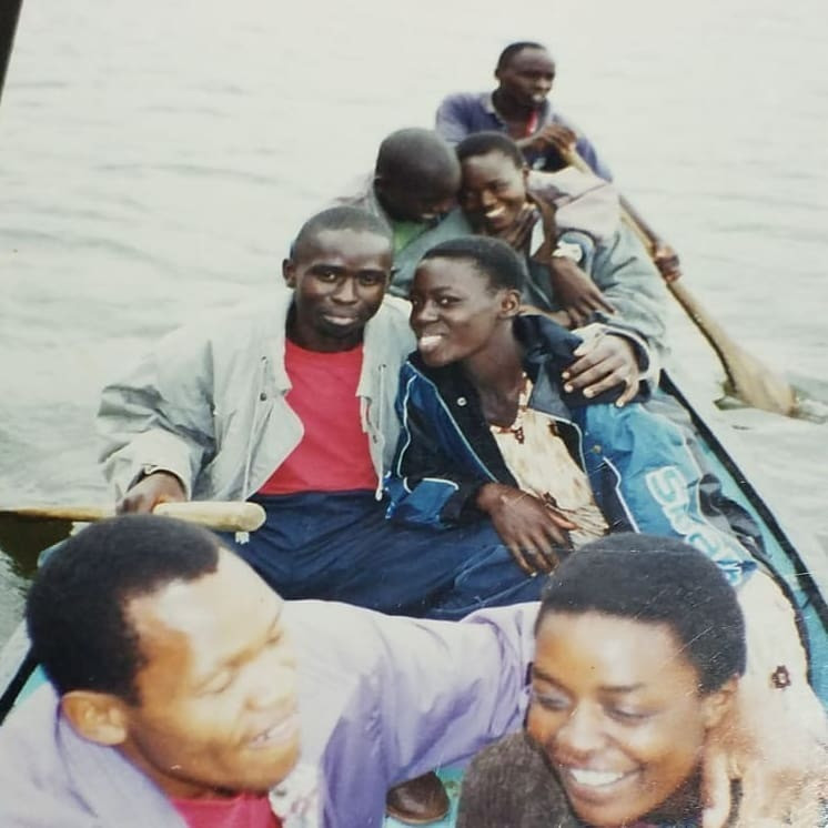 Throwback picture of Akothee with ex-husband and other friends