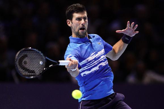 Novak Đoković na Završnom turniru u Londonu