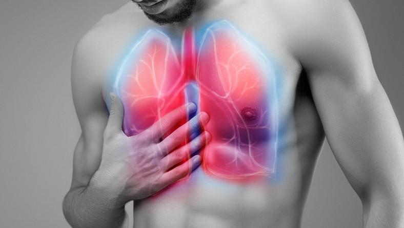 Ból w płucach