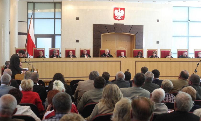 Trybunał konstytucyjny ogłasza wyrok w sprawie działkowców.