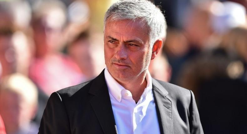 Manchester United's manager Jose Mourinho arrives for the English Premier League football match against Southampton September 23, 2017
