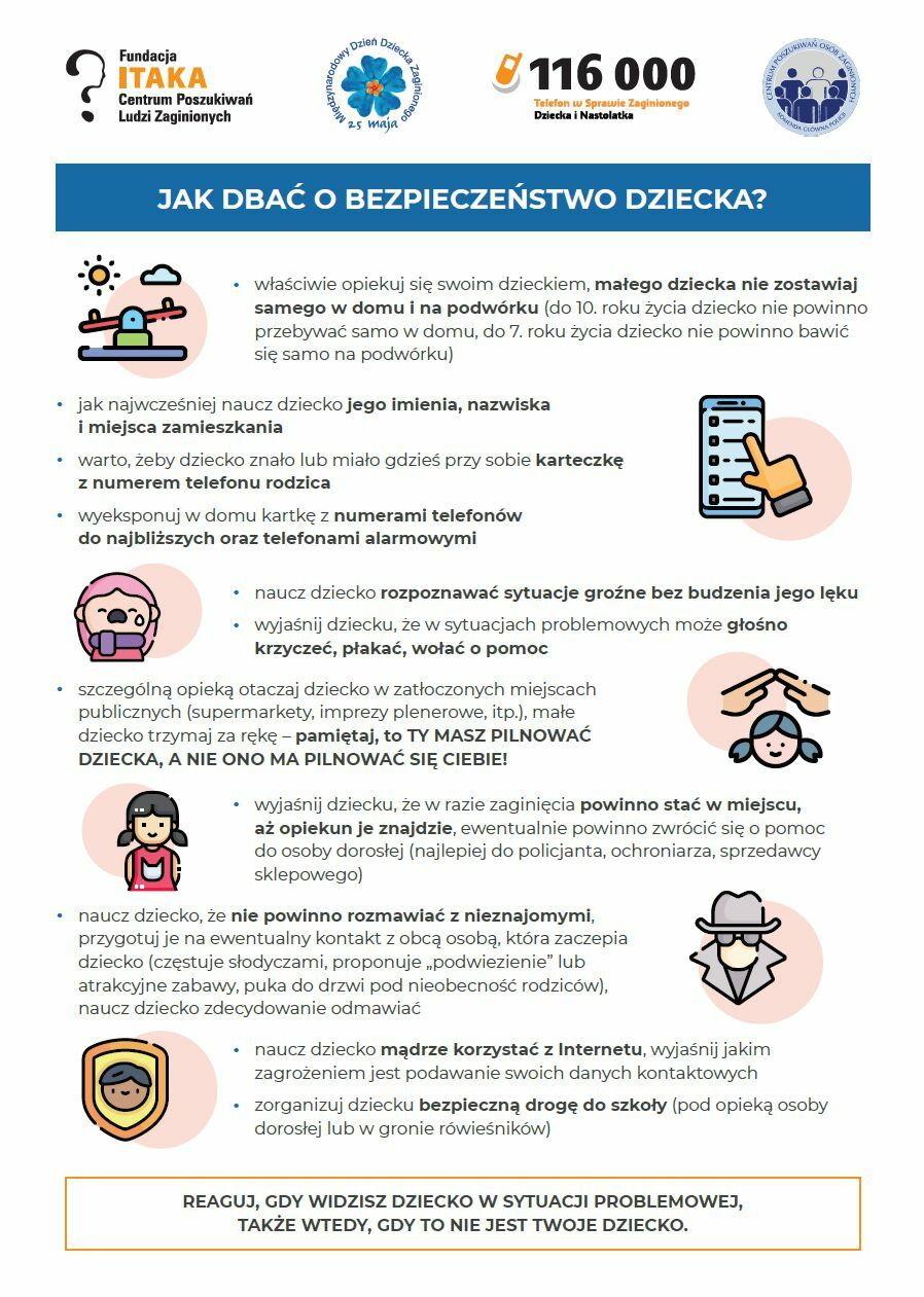 Jak zadbać o bezpieczeństwo dziecka?