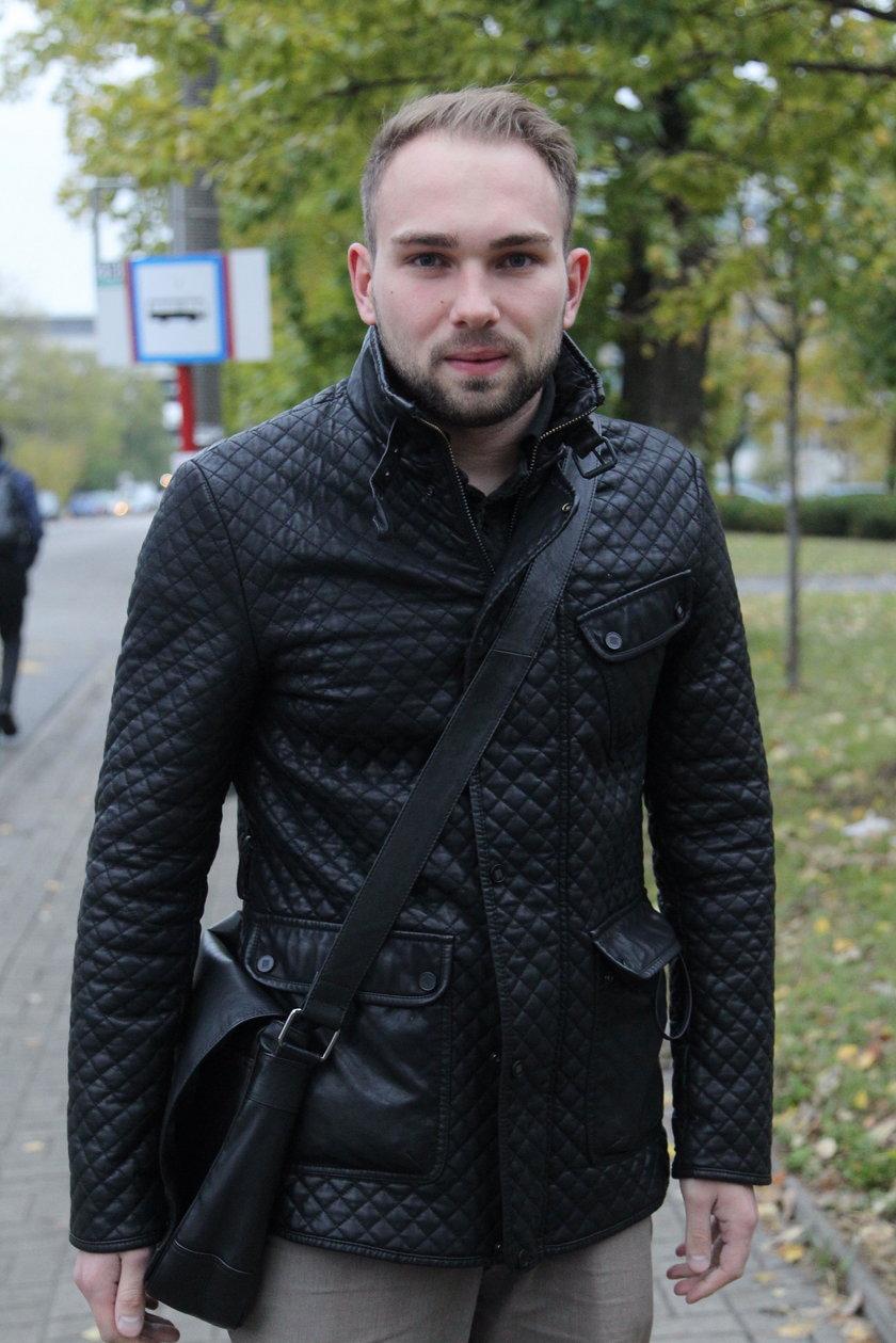 Wacław Drabik (26 l.) pracownik jednego z biur na Służewcu: