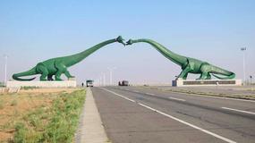 Lubieżna rzeźba na granicy Chin z Mongolią