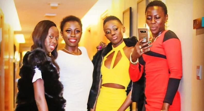 Akothee with her Kids