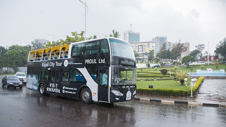 Kigali City sightseeing tour bus.  (The New Times)