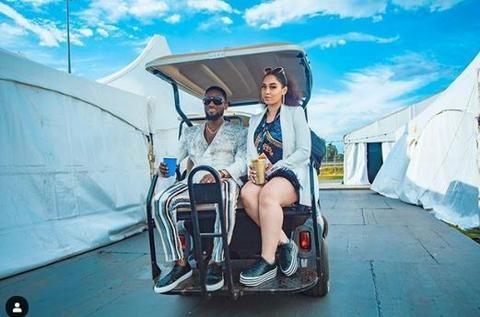 D'banj with his wife,Lineo Didi Kilgrow [Instagram/IamBangaLee]