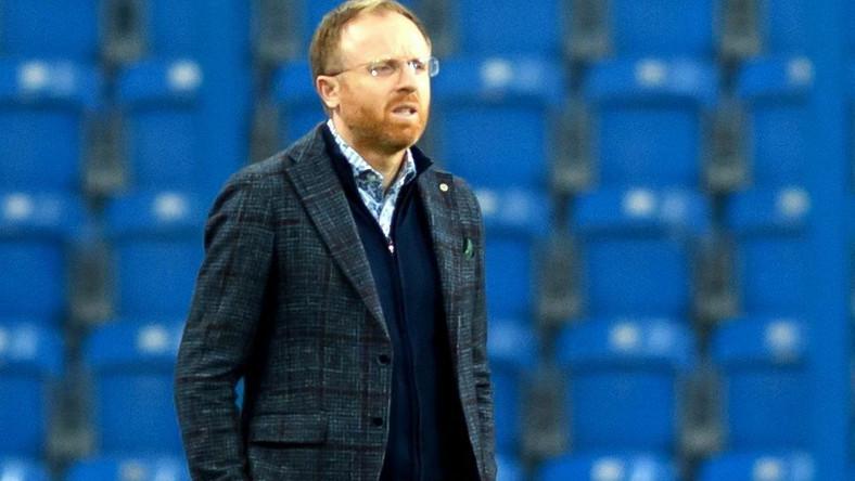 Trener zespołu Lechia Gdańsk Piotr Stokowiec