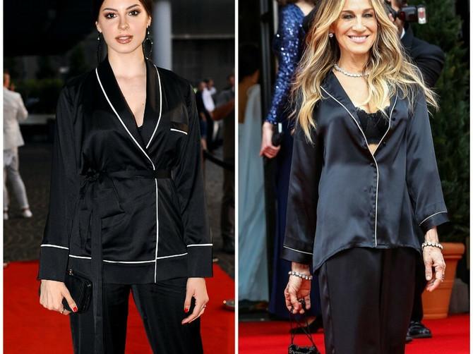 Svilena pidžama i SEKSI BRUS: Dve Sare, na dva različita kontinenta U ISTIM KOMBINACIJAMA PRAVE DAR-MAR!