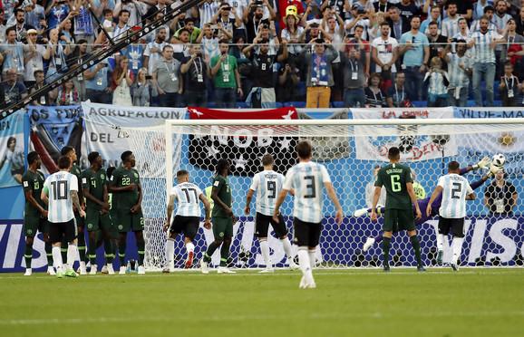 Detalj sa meča Nigerije i Argentine na SP u Rusiji