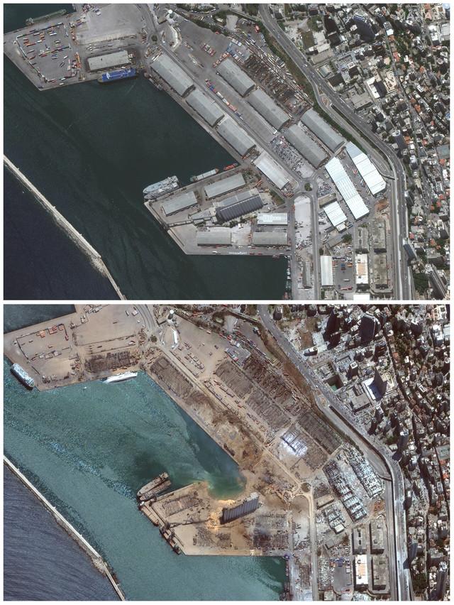 Bejrut pre i posle eksplozije