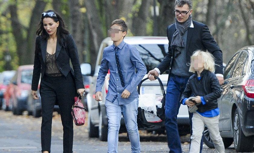 Justyna Steczkowska z rodziną