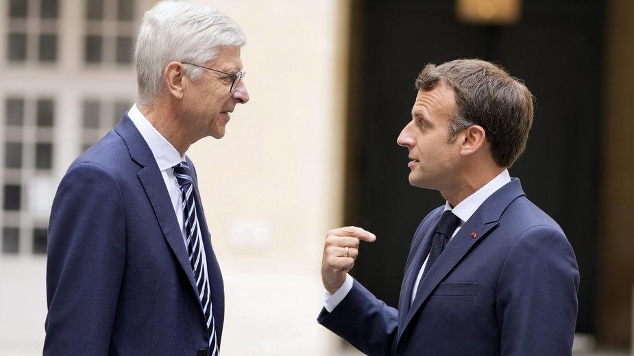 Arsene Wenger i Emmanuel Macron