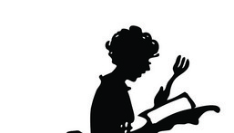 Silhouette of a housewife