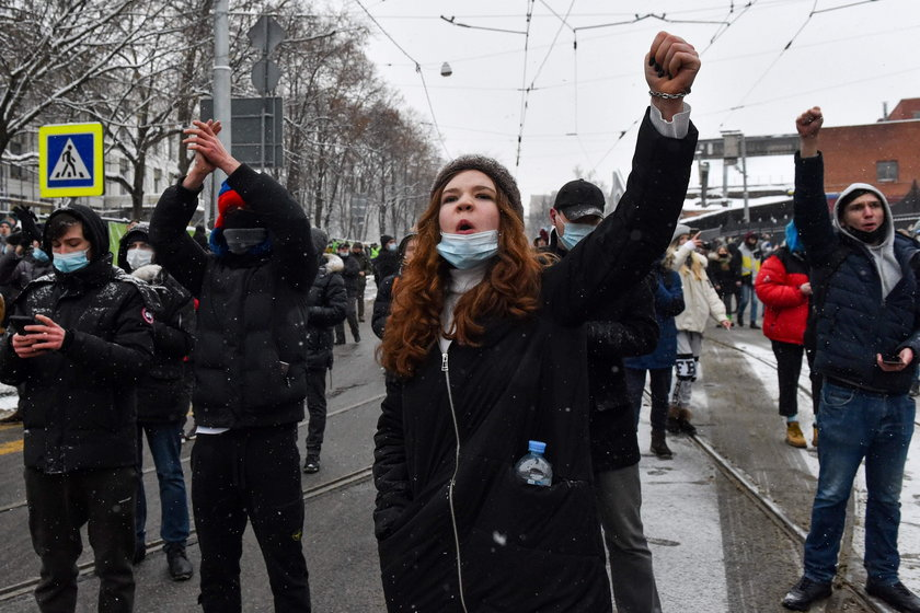 Rally in support of Alexei Navalny in Moscow