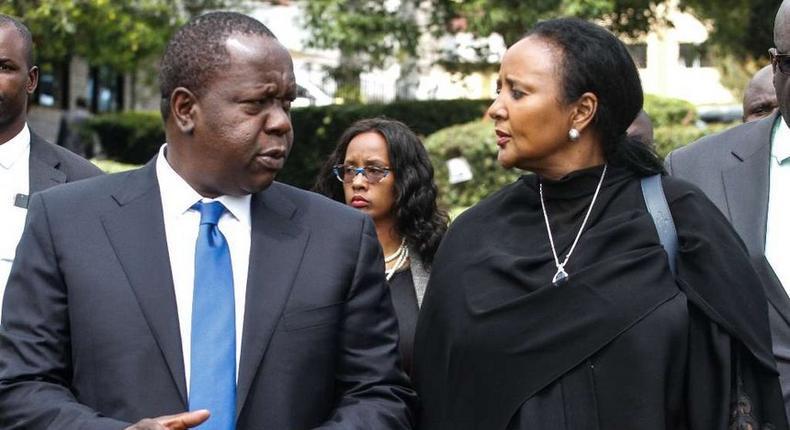 CS Amina Mohamed with CS Fred Matiangi
