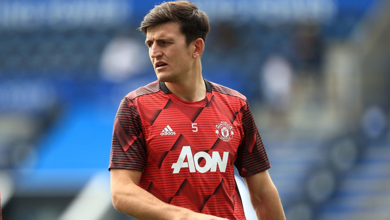 July 26, 2020, Leicester, Leicestershire, United Kingdom: Harry Maguire of Manchester United during the Premier League match between Leicester City and Manchester United at the King Power Stadium, Leicester on Sunday 26th July 2020. (Credit Image: © Mi News/NurPhoto via ZUMA Press) LIGA ANGIELSKA PILKA NOZNA SEZON 2019/2020 FOT. ZUMA/NEWSPIX.PL POLAND ONLY! --- Newspix.pl *** Local Caption *** www.newspix.pl mail us: info@newspix.pl call us: 0048 022 23 22 222 --- Polish Picture Agency by Ringier Axel Springer Poland