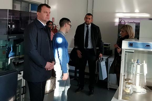 Igor Mirović u poseti italijanskom Tehnološko naučnom parku Padano u Lodiju