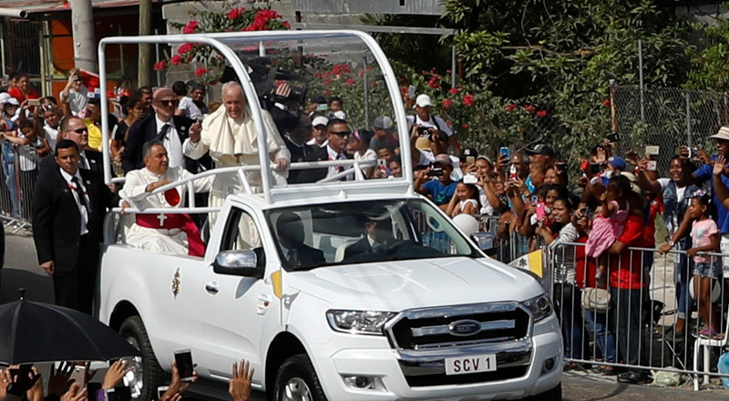 All of the 'Popemobiles' Pope Francis rode this year, from a Mercedes-Benz G-Wagen to a hydrogen-powered Toyota