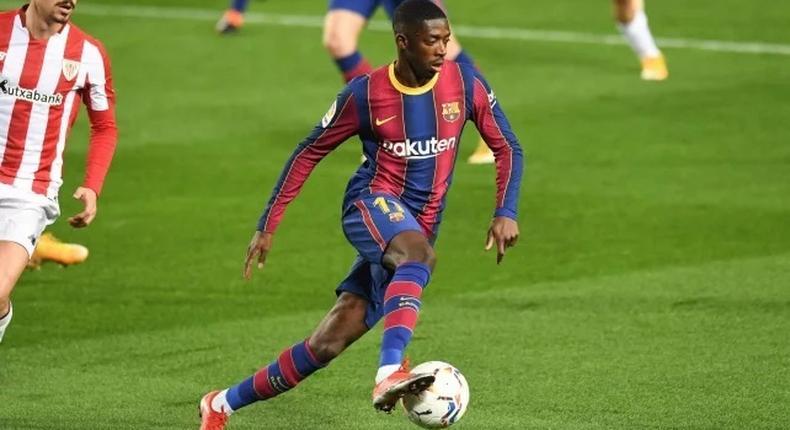 Ousmane Dembélé lors d'un match du Barça face à l'Athletic © Maxppp