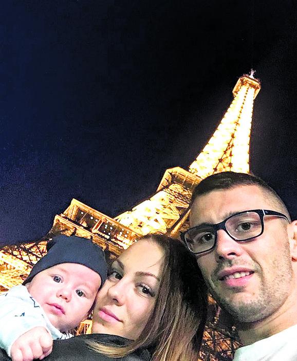 Srećna porodica: Davor Štefanek sa suprutom Dolores i naslednikom Matijom
