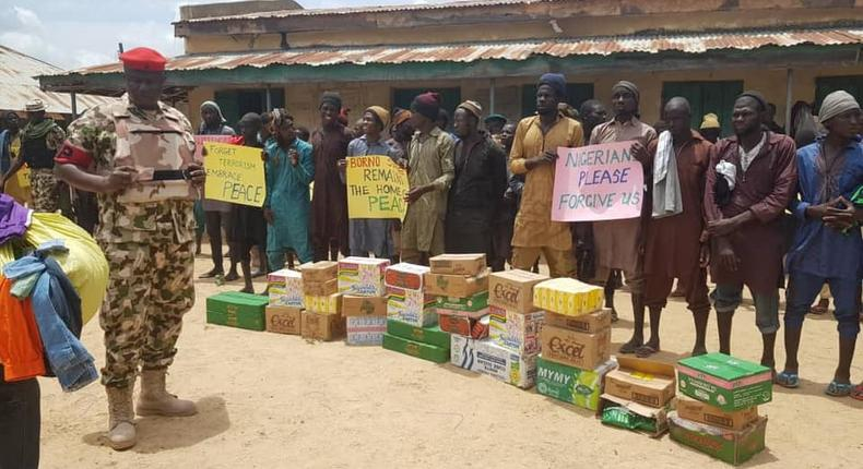 Boko Haram terrorists that surrender are rehabilitated and released under the Operation Safe Corridor programme [Nigerian Army]