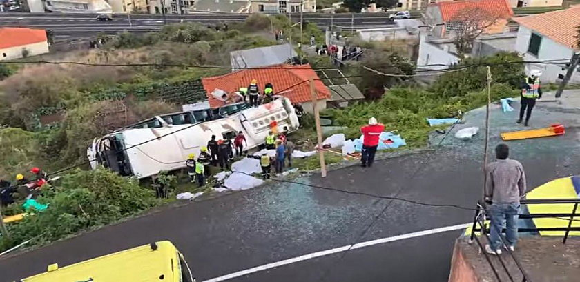 Wypadek autobusu na Maderze