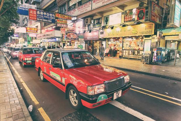 Hong Kong, taksówka