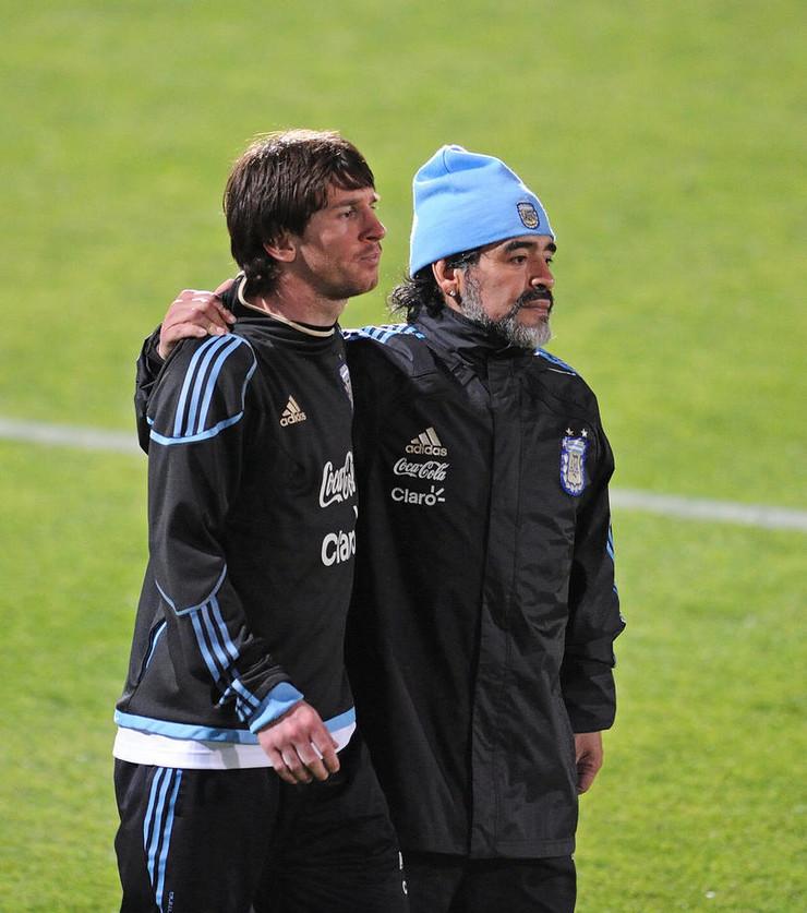 Dijego Armando Maradona i Lionel Mesi