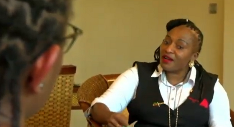 A screen-grab image of embattled detective Jane Wawira Mugo who has opened up on the fierce battle for the control of a thriving business empire