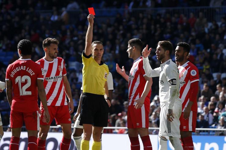 Serhio Ramos, crveni karton