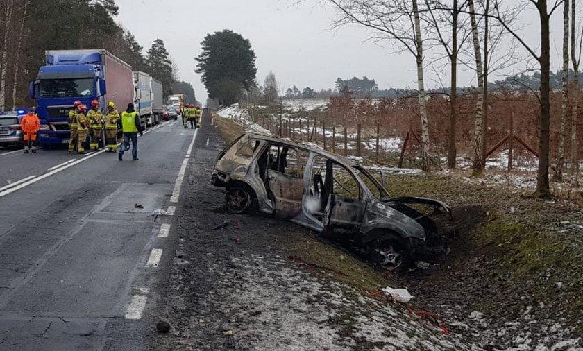Wypadek koło Brzozówki