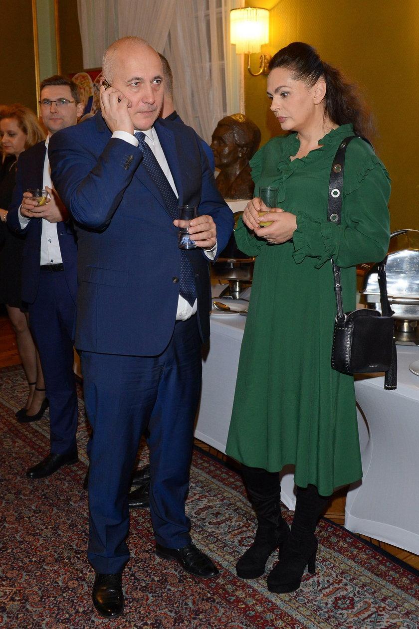 Joachim Brudziński z żoną