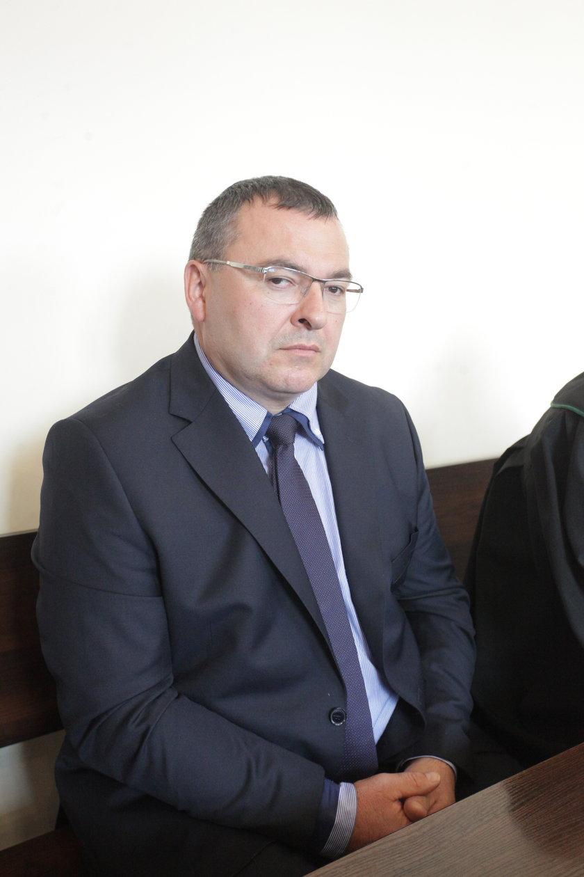 Marek Mielewczyk podczas rozprawy w Sądzie Okręgowym w Gdańsku
