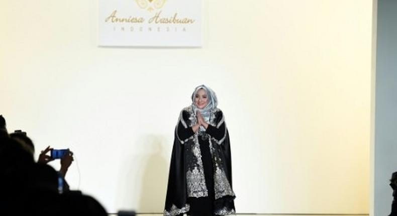 Indonesian designer Anniesa Hasibuan has developed a trademark style that complements the hijab with flowing, iridescent gowns