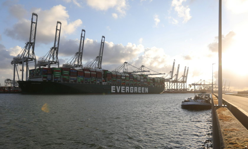 Ever Given container ship that blocked the Suez Canal in March arrives at Rotterdam port