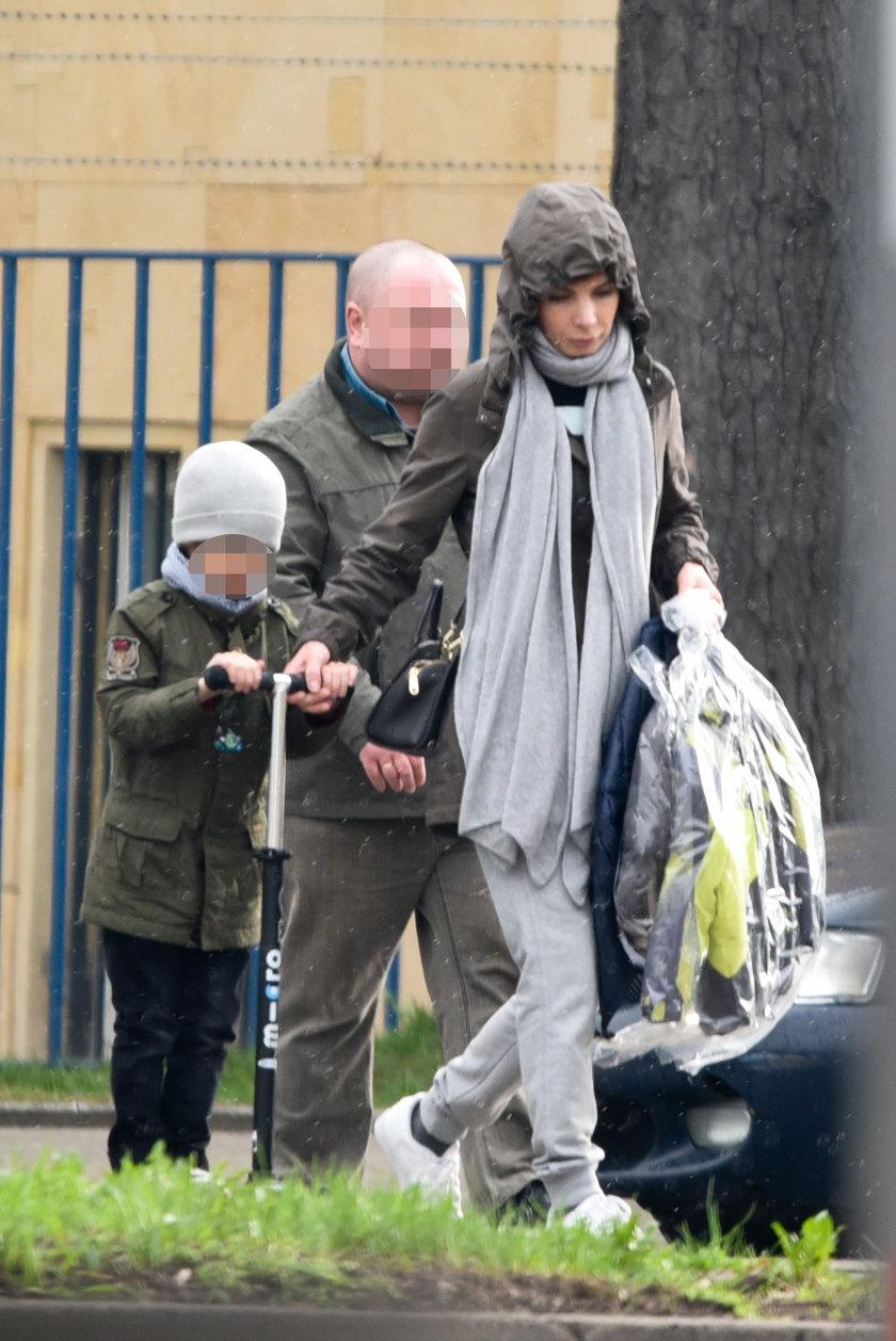 Agnieszka Dygant z synem