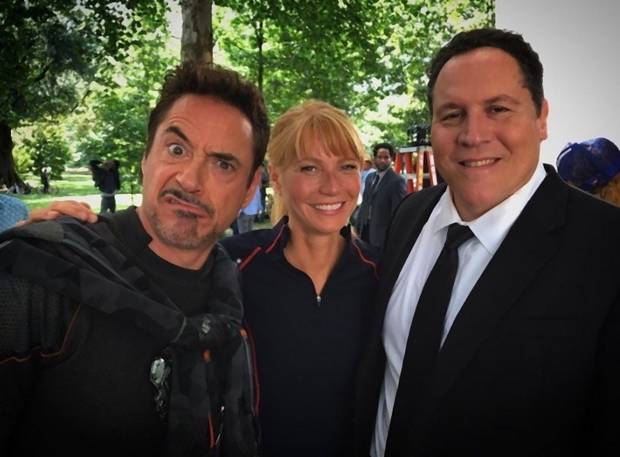 Robert Downey Jr., Gwyneth Paltrow és Jon Favreau