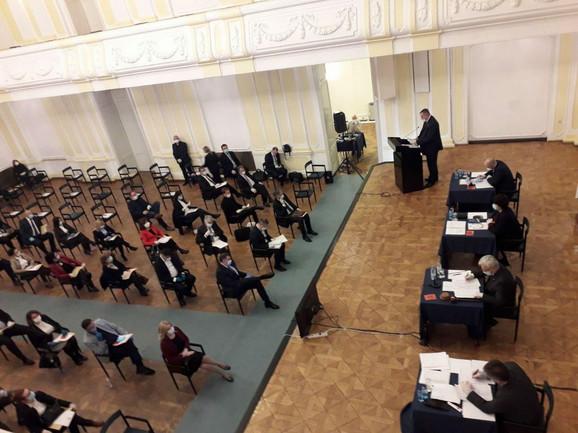 Sednica Narodne skupštine RS u Banskom dvoru