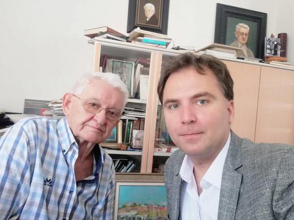 Nikola Kusovac sa direktorom