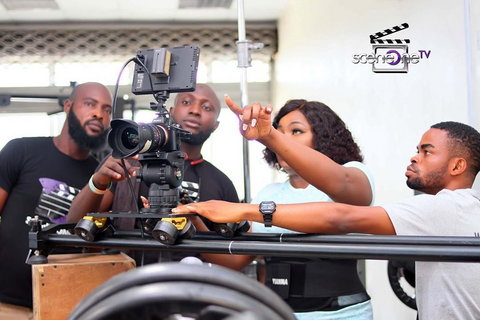 Funke Akindele Bello behind the camera in season 17 of 'Jenifa's Diary' [Instagram/Jenifa's Diary]