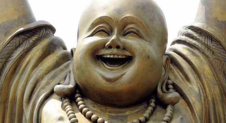 The smiling buddha is currently trending on Nigerian Twitter but it actually has nothing to do with luck (Youtube/HGA)
