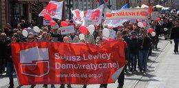 Święto 1 maja w Łodzi. Pomaszerowali ulicą Piotrkowską