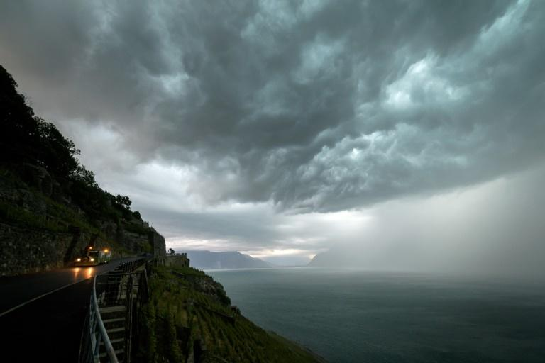 The storm brought winds reaching up to 110 kilometres (70 miles) per hour in western Switzerland