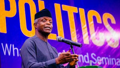 Vice President Yemi Osinbajo at the launch of 'Politics That Works – What Schools And Seminars Won't Teach You About Winning Elections' in Abuja
