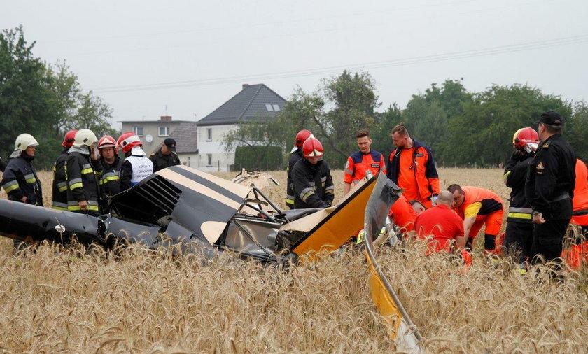 Katastrofa śmigłowca koło Opola.