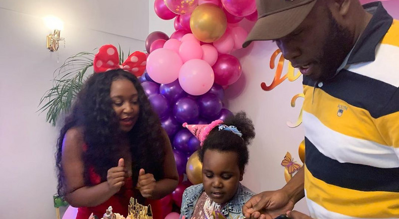 Emotions run high as Dennis Okari attends daughters 6th Birthday Party (Video/Photos)