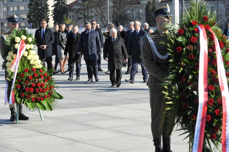 Jarosław Kaczyński, Joachim Brudziński, Krzysztof Sobolewski, Piotr Gliński